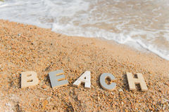 Vintage letters at the beach Stock Photography