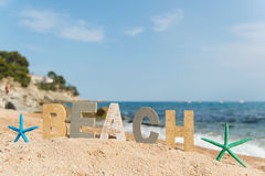 Vintage letters at the beach Royalty Free Stock Photos