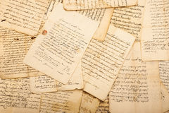 Vintage letters. Of the 1700/1800 century royalty free stock photo