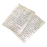 Vintage letters  on white 3D Illustration Stock Photo