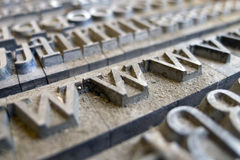 Vintage letters www Stock Photography
