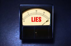 Vintage Liar Meter showing dishonesty levels stock photo