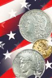 Vintage Liberty faces, stars & stripes Royalty Free Stock Photos