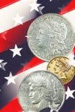 Vintage Liberty faces, stars & stripes Royalty Free Stock Photos