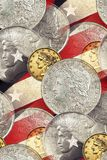 Vintage Liberty faces, stars & stripes Stock Photos
