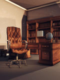 Vintage library room Royalty Free Stock Images