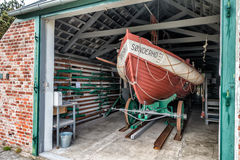 Vintage life saving station in Sonderho on Fano Stock Images
