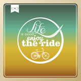 Vintage life style bike poster. Stock Image