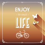 Vintage life style elements poster. Royalty Free Stock Images