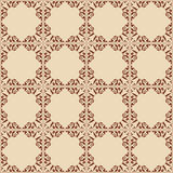Vintage light brown vector seamless pattern with squares Royalty Free Stock Images