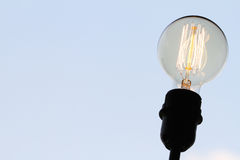 Vintage light bulb with copy space as creative Royalty Free Stock Photo