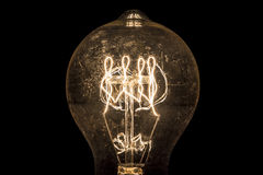 Vintage Light Bulb Filament Royalty Free Stock Photography