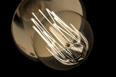 Vintage Light Bulb Lamp Closeup macro Stock Photo