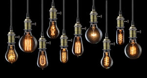 Vintage light bulbs Stock Images