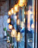 Vintage light bulbs in interior Royalty Free Stock Photography