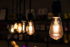 Vintage Light Bulbs Orange Tungsten Wire Interior Decoration Ins stock photography