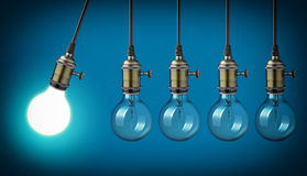Vintage light bulbs Royalty Free Stock Photo