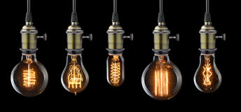 Vintage light bulbs Royalty Free Stock Photography