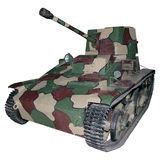 Vintage light camouflage tank Royalty Free Stock Image