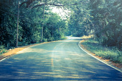 Vintage light of country road. Landscape Stock Image