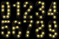 Vintage light fonts. This font is made in the style of vintage letters Royalty Free Stock Photo