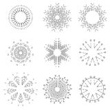 Vintage light rays icons set vector illustration Royalty Free Stock Images