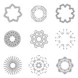 Vintage light rays icons set vector illustration Stock Photo