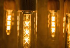 Vintage lightbulbs close-up Stock Images