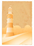 Vintage lighthouse Stock Photo