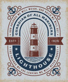 Vintage Lighthouse Typography Royalty Free Stock Photography