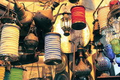 Vintage lights on Istambul market. Vintage lights store on Istambul market Stock Photo
