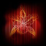 vintage lily on abstract background Stock Photo