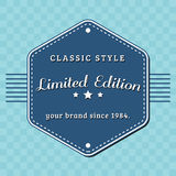 Vintage limited edition badge, retro designed Stock Photography