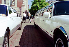 Vintage Limousine - NYC Royalty Free Stock Photography