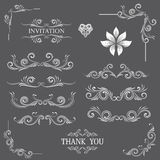 Vintage Line Art Ornamental Stock Images