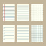 Vintage line paper sheets Stock Photos