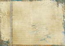 Vintage lined paper Stock Images