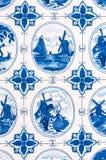 Vintage Linen Dish Towel - Dutch Stock Photography