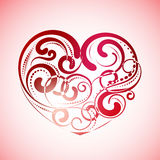 Vintage lines of heart. Valentines day. Greeting card stock illustration