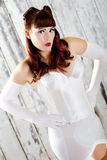 Vintage Lingerie Retro Girl Model Royalty Free Stock Photo