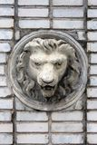 Vintage Lion Head Sculpture Stock Images