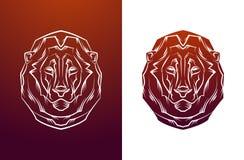 Vintage lion label. Retro vector design graphic Stock Photos