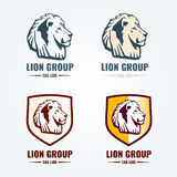Vintage lion logotypes vector set Stock Image