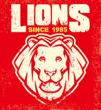 Vintage lion mascot Royalty Free Stock Photography