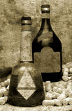 Vintage liquor bottles Stock Image