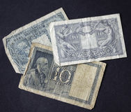Vintage lire notes Stock Photos