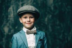 Vintage little gentleman Stock Images