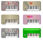 Vintage Little Keyboards Stock Images