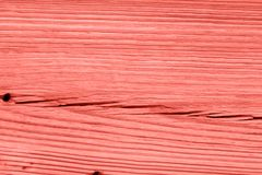 Vintage living coral wood texture. Abstract background stock image