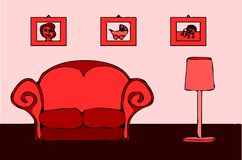 Vintage living room II. Stock Photo